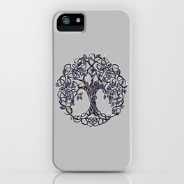 Tree of Life Silver iPhone Case