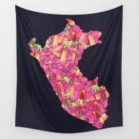 peru Wall Tapestries featuring Peru by Ursula Rodgers