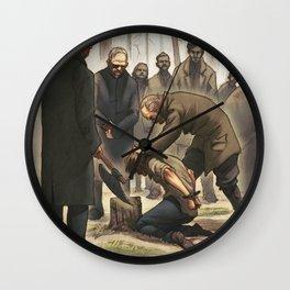 The execution of Jonas Falk Wall Clock