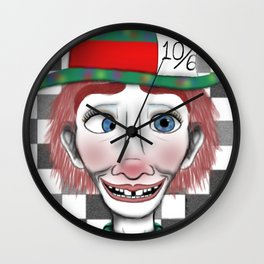 Hysterical Hatter Wall Clock