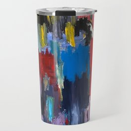 Abstract Crowd by artbykost Travel Mug