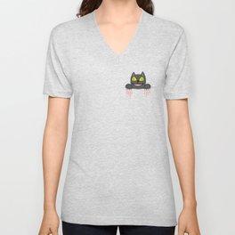 Creepy Pocket Cat Unisex V-Neck