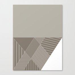 Minimal Trangles Beige Canvas Print
