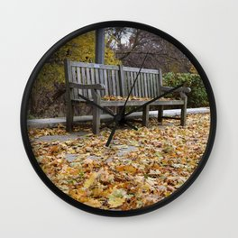 Autumn leves Wall Clock