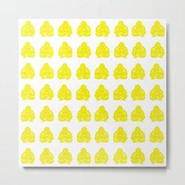 Golden Yellow Asian Moods Buddha Boys Metal Print