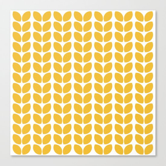 leaves - yellow Canvas Print