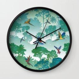 Macaw Canopy Wall Clock