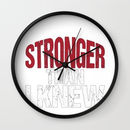 Stronger than I Knew Concussion Awareness Day Wall Clock