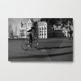 Bicycle and Budapest Metal Print