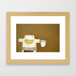 Coffee Lover Cigi Pal Framed Art Print