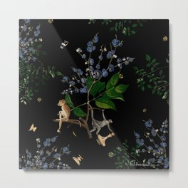 Monkey World: Apy and Vinnie Metal Print