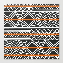 Tribal ethnic geometric pattern 022 Canvas Print