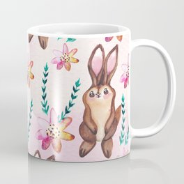 Cute easter pattern with rabbits Coffee Mug