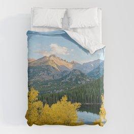BEAR LAKE AUTUMN COLORADO ROCKY MOUNTAIN NATIONAL PARK FALL LANDSCAPE Duvet Cover