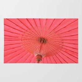 Red umbrella Rug