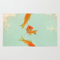 Goldfish in the sky Rug
