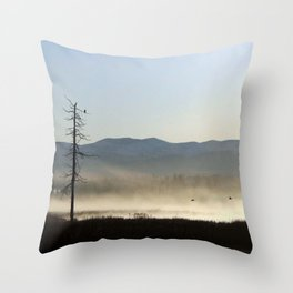 Mist on the Marsh 01 Throw Pillow