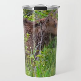Moose and calf by Teresa Thompson Travel Mug