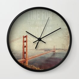 Time for Adventure Wall Clock