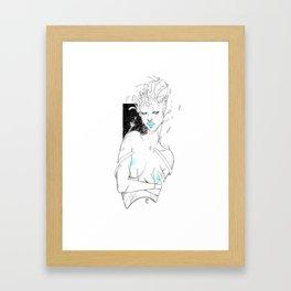 Cold Flower Feels Framed Art Print