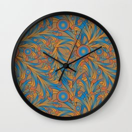 psychedelic Art Nouveau  Wall Clock
