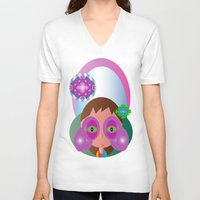 lucy V-neck T-shirts featuring Lucy by J Riley
