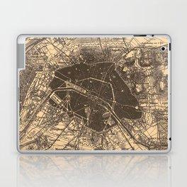 Vintage Map of Paris France (1907) 2 Laptop & iPad Skin