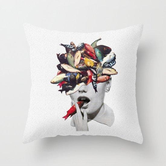 Ωmega-3 Throw Pillow