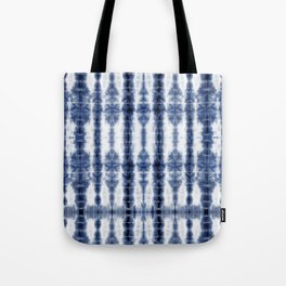 Tiki Shibori Blue Tote Bag
