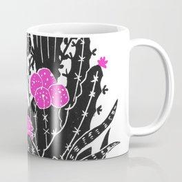 Cactus Flowers (bw/pink) Coffee Mug