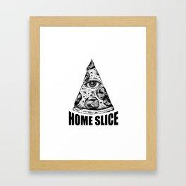 Home Slice Framed Art Print