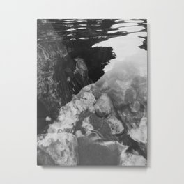 Reflection in the stream Metal Print