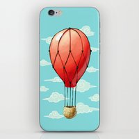 hot air balloon iPhone & iPod Skins featuring Hot Air Balloon by Freeminds