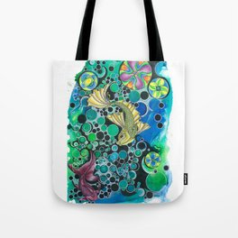 fish abstract Tote Bag