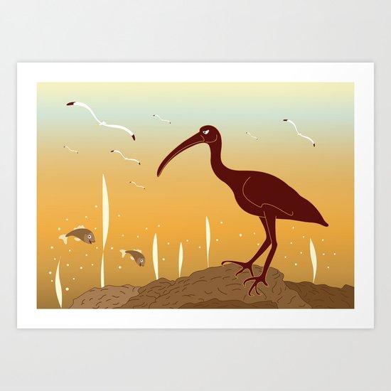 A Full Ibis Art Print
