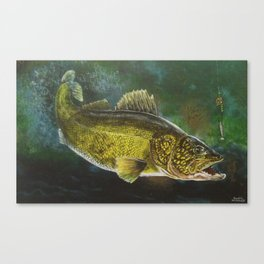 """Walleye- the Golden Beauty"" Canvas Print"
