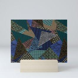 Pantern Mania Collage Mini Art Print
