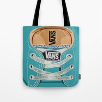 vans Tote Bags featuring Cute blue teal Vans all star baby shoes iPhone 4 4s 5 5s 5c, ipod, ipad, pillow case and tshirt by Three Second