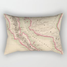 Vintage Map of Baja California (1827) Rectangular Pillow