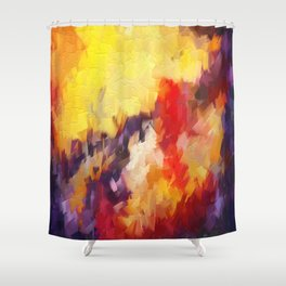 Abstract Impressions of an Abstract Shower Curtain