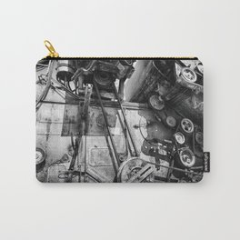 Soviet Combine Harvester Black and White Carry-All Pouch