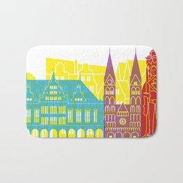 Bremen skyline pop Bath Mat