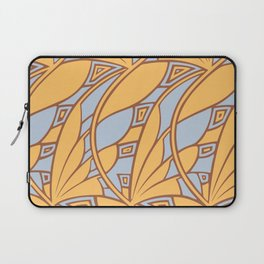 Modern art nouveau tessellations gamboge azure Laptop Sleeve
