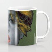 jennifer lawrence Mugs featuring Jennifer Lawrence by Marv Castillo
