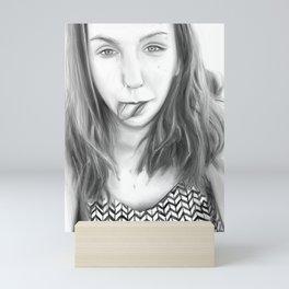 Girl portrait  03 Mini Art Print
