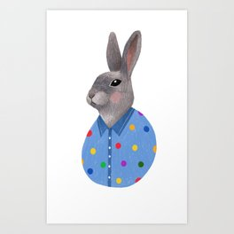 Bunny Kids Print Art Print