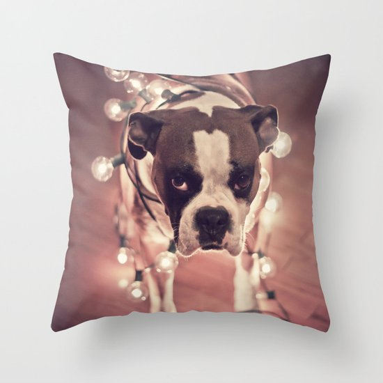 Will work for treats Throw Pillow
