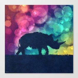 Pop Art Rhinoceros Canvas Print
