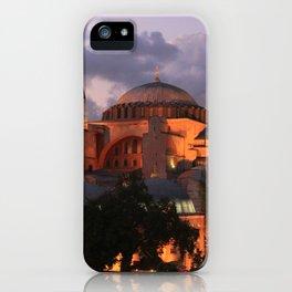 Hagia Sophia at Night iPhone Case