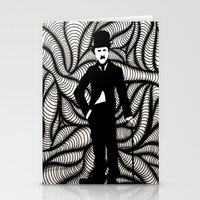 charlie chaplin Stationery Cards featuring Charlie Chaplin by Gabrielle Wall